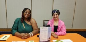 India Brown and Nilofer Ali attending the Dayton Young Black Professionals Opportunity Fair